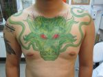 Sheng Long Full Body Suit chest part by micaeltattoo