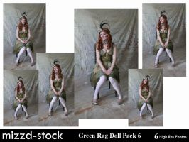 Green Rag Doll Pack 6 by mizzd-stock