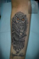 owl (original design is not mine) by ABYSS-TAT-2S