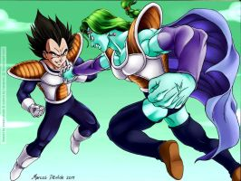 Collab: Vegeta vs Zarbon by carapau