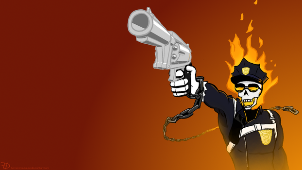 Inferno Cop Wallpaper by herrerarausaure