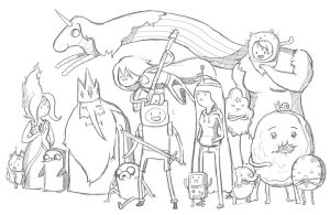 Adventure Time Doodle by CauseImDanJones