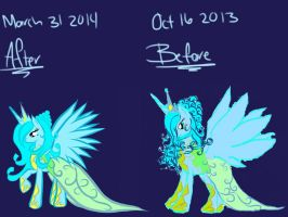 Before and after: AquaAngel at the gala by AquaAngel1010