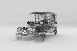 Ford Model T Wire Frame by Xpunk75