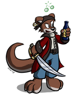 Pirate Otter by Virmir