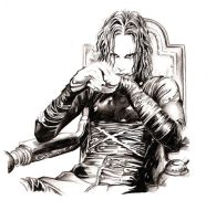 Brandon Lee - The Crow by Deinslef