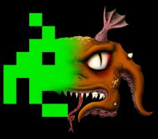 The Real Space Invader by Junkandres