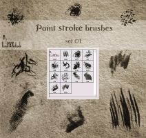 Paint stroke brushes - set 01 by LunaNYXstock