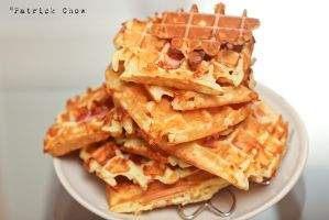Ham and cheese waffles 1 by patchow