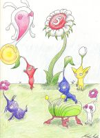 Pikmin and Friends by Randy-Ghoti