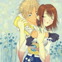 Yuna and Tidus by nami-heart-note