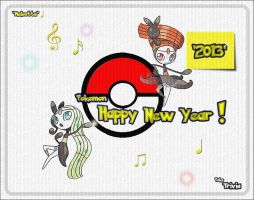 'Happy 2013! (By PokeTrivia featuring Meloetta)' by TrainerEM-Dustin