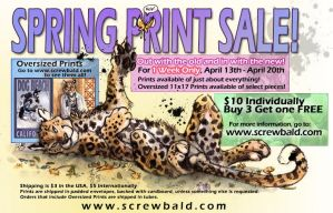 Spring Print Sale by screwbald