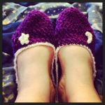 Crochet Moon and Star Slippers by Harxlily