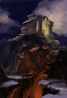 Hilltop temple revisted by Nightblue-art