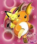 PA ++Me and Uncle Raichu++ by kiraradaisuki