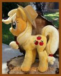 My Little pony Applejack Plush Commission by CINNAMON-STITCH