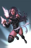 WindriderX23's Psylocke coloured by ginmau