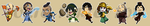 Stickers: Avatar The Last Airbender by forte-girl7