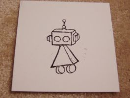 Robot Block Print - Test by suzannahashley