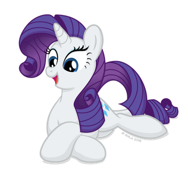Commission: Relaxed Rarity by LittleHybridShila