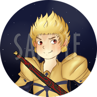 Gilgamesh Button by ColombianTwat