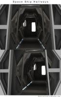 Space Ship Hallways 1 by Mallacore