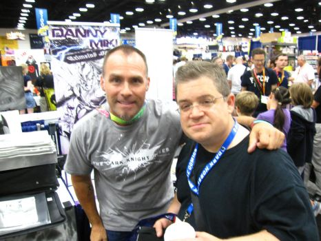 SDCC 2012 Patton Oswald and me by corysmithart