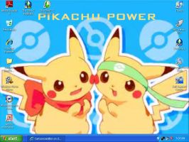 pikachu power desktop by Cartooncamillion
