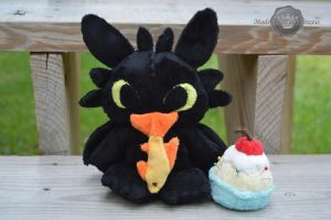 FOR SALE Toothless (Chibi Toothless) EDIT: SOLD by PlushPrincess