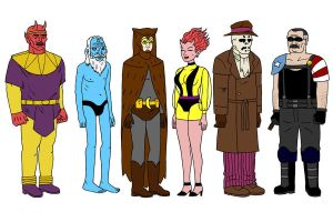 Ugly Watchmen by Coelasquid
