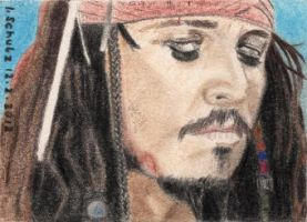 Johnny Depp - Jack Sparrow - ACEO by shaman-art