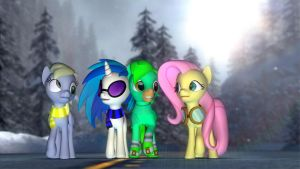 Hanging Out With My Favorite Ponies by Legoguy9875