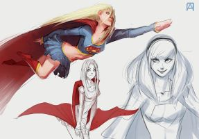 Supergirls by Pechan