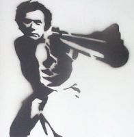 Dirty Harry Stencil. by D-Pepper