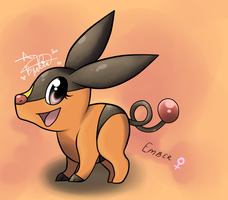 .: Ember the Tepig :. by Luxsia