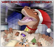 Sanni The Christmas Raptor by Vertical-Misfit