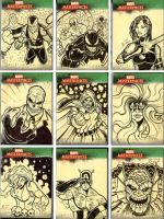 Marvel Sketch Cards 1 by Bryce-Lee