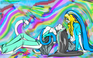 .::Collab::. Catt and Flickie by ElectriCatt