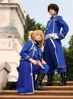 FMA: Roy Mustang and Riza Hawkeye by AlexReiss
