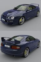 Toyota Celica - blue by adit1001