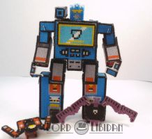 Transformer Cross Stitch Robot 3 by LordLibidan