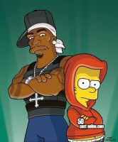 50 cent and Bart Simpson by DaddyWes