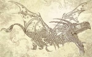 Henna Tattoo Dragon by ErikDePrince