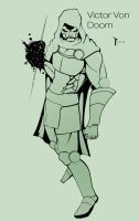 Dr Victor Von Doom Lineart by slasher556
