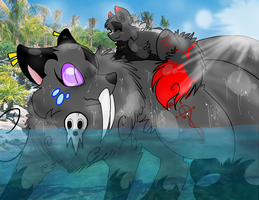You don't have to get your paws wet! by gamakichisora