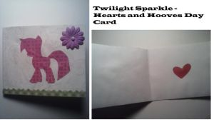 Twilight Sparkle - Hearts and Hooves Day Card by AppieJackie