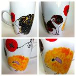 Guinea Pigs - Handpainted Coffee Mug! by InkyDreamz