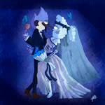 ::Mordecai and Corpse Bride:: by gloriapainthtf