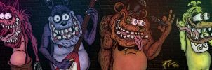 Five Nights at Freddy's - Ed Roth Style by SestrenNK